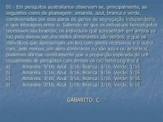 GABARITO: C