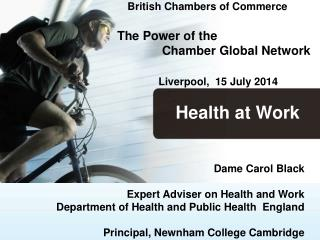 British Chambers of Commerce The Power of the               Chamber Global Network
