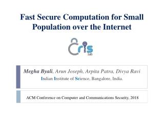 Secure Multi-party Computation Minimizing Online Rounds