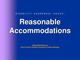 Accommodating the Public - Building requirements - Communication requirements - AgrAbility