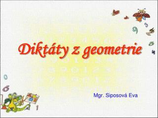 Diktáty z geometrie