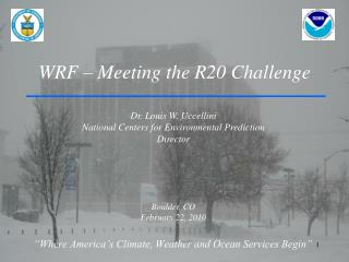 WRF – Meeting the R20 Challenge