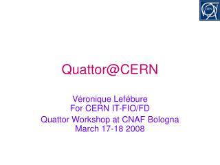 Quattor@CERN