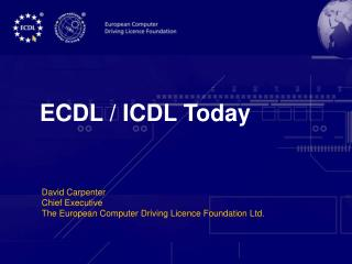 ECDL / ICDL Today