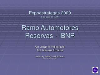 Expoestrategas 2009 6 de julio de 2009 Ramo Automotores Reservas - IBNR