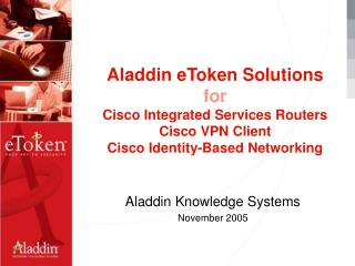 Aladdin Knowledge Systems November 2005