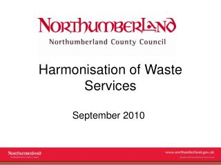 Harmonisation of Waste Services