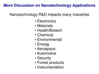 Nano Applications