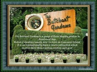 The Butchart Gardens is a group of floral display gardens in Brentwood Bay, British Columbia,Canada, near Victoria on Va