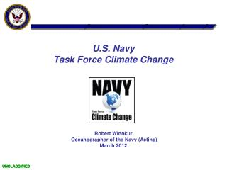 U.S. Navy Task Force Climate Change