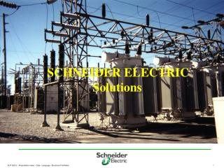 SCHNEIDER ELECTRIC Solutions