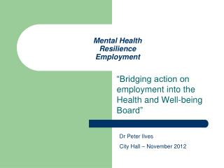 Mental Health Resilience Employment