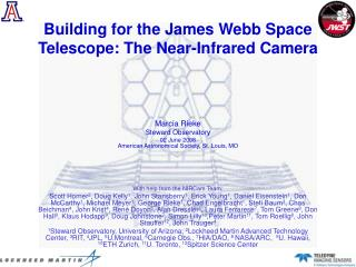 Building for the James Webb Space Telescope: The Near-Infrared Camera