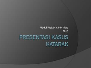 Presentasi Kasus Katarak