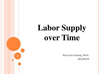 Labor Supply over Time
