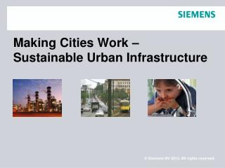 Making Cities Work –  Sustainable Urban Infrastructure