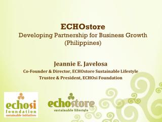 ECHOstore  Developing Partnership for Business Growth (Philippines)