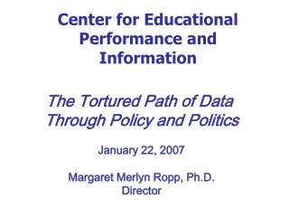 Center for Educational Performance and Information