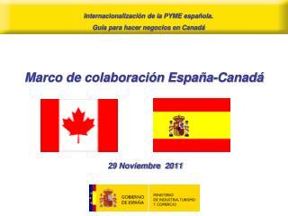 Marco de colaboración España-Canadá