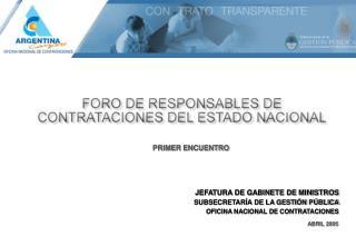 JEFATURA DE GABINETE DE MINISTROS SUBSECRETARÍA DE LA GESTIÓN PÚBLICA