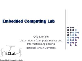 Embedded Computing Lab