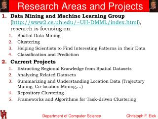 Research Areas and Projects