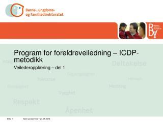 Program for foreldreveiledning – ICDP-metodikk