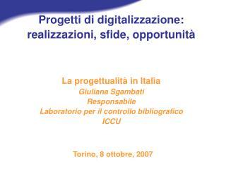Torino, 8 ottobre,  2007