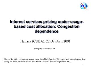 Internet services pricing under usage-based cost allocation: Congestion dependence