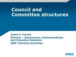 Council and Committee structures