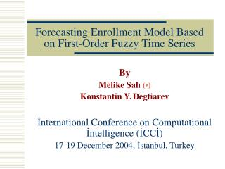 Forecasting Enrollment Model Based on First-Order Fuzzy Time Series