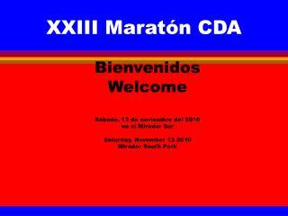 XXIII Maratón CDA