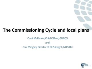 The Commissioning Cycle and local plans