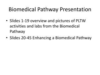 Biomedical Pathway Presentation