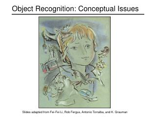 Object Recognition: Conceptual Issues