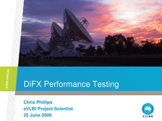DiFX Performance Testing