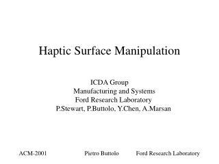 Haptic Surface Manipulation