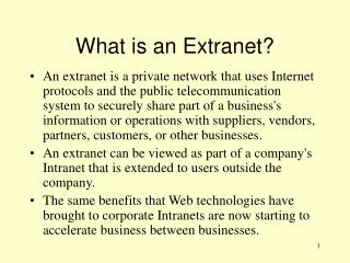 What is an Extranet