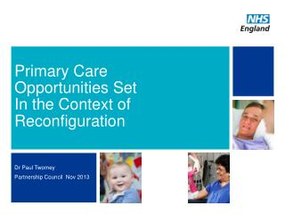 Primary Care   Opportunities Set  In the Context of Reconfiguration