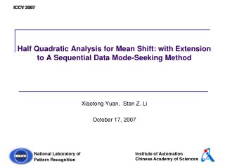 Half Quadratic Analysis for Mean Shift: with Extension to A Sequential Data Mode-Seeking Method