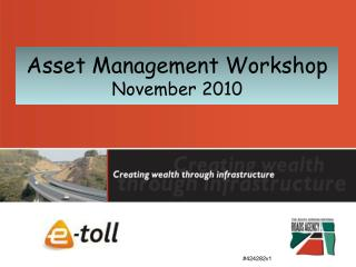 Asset Management Workshop November 2010