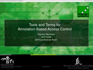 Tools and Terms for  Annotation-Based Access Control