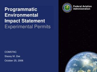 Programmatic Environmental Impact Statement Experimental Permits