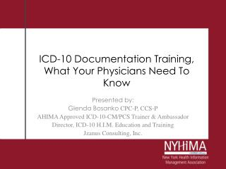 ICD-10 Documentation Training, What Your Physicians Need To Know