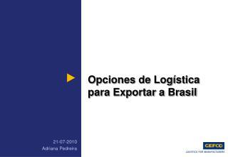 Opciones de Log stica para Exportar a Brasil