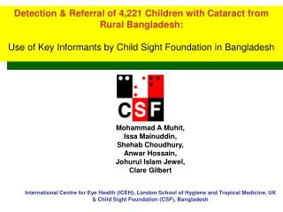 Detection & Referral of 4,221 Children with Cataract from Rural Bangladesh: