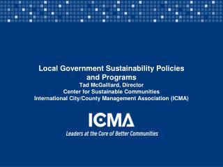 ICMA Organizational Overview