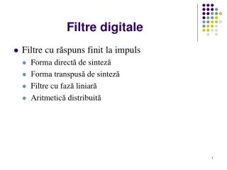 Filtre digitale