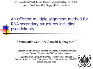 An efficient multiple alignment method for RNA secondary structures including pseudoknots