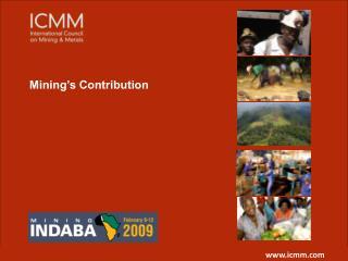 Mining's Contribution